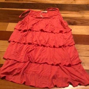 Bearsland size L coral ruffled tiered nursing tank